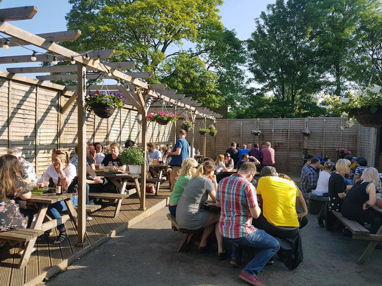 The Fox and Hounds beer garden